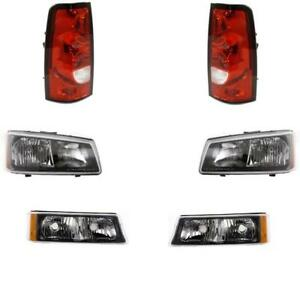 2004 Chevy Silverado Truck For Headlights Park Lamps Tail Lights Set 6 Nice