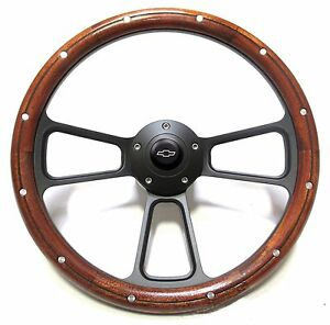 1970 73 Chevy Ck Pick Up Truck Blazer Wood Steering Wheel Adapter Chevy Horn