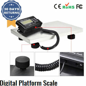 Digital Floor Bench Scale Postal Platform Shipping 300kg Lcd Display W backlight
