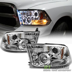 2009 2018 Dodge Ram 1500 2500 Pickup Led Halo Projector Headlights Drl Headlamps