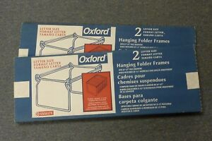 Oxford 94422 Letter Size Hanging File Folder Frames Lot Of 2 Boxes Of 2
