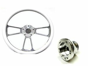 New World Motoring Columbia Par Car 14 Billet White Steering Wheel Include