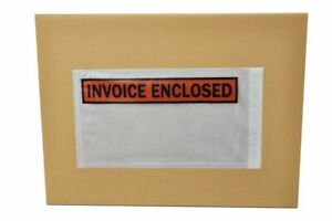 4 5 X 5 5 Invoice Enclosed Panel Face Envelopes Packing Supplies 20000 Pieces