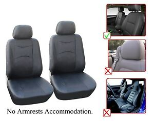 Vinyl Leather Two Front Car Seat Covers For Honda L1510 Black