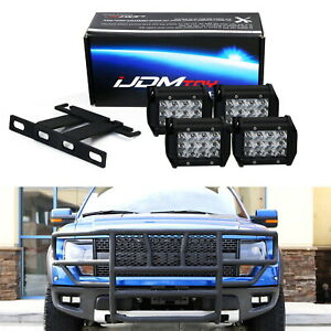 High Power Dual Led Pods Fog Light Kit W Bracket Wiring For 2010 14 Ford Raptor
