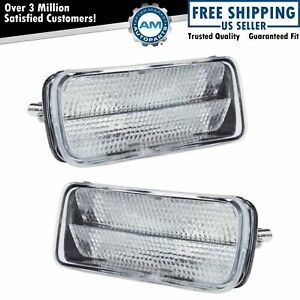 Side Corner Parking Light Lamp Clear Pair Set For 85 92 Chevrolet Camaro Z28