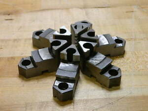 Set Of 6 Gibraltar Steel Hard Top Jaws For 6 Adjustable Lathe Chuck