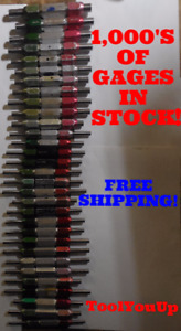 62pc Smooth Pin Plug Gage Lot 1875 3750 500 Over Under Size Go No Go Many