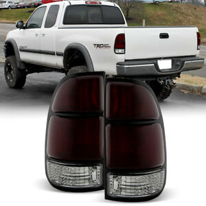 For Dark Red 2000 2001 2002 2003 2004 Toyota Tundra Tail Lights Lamps Left Right