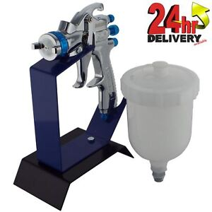 Devilbiss Slg 610 Solvent Gravity Spray Gun 1 3mm Tip Bench Table Top Stand