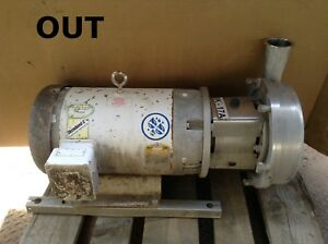 2 5 X 3 Stainless Steel Sanitary Centrifugal Pump W 15hp 3450rpm 7 Impeller