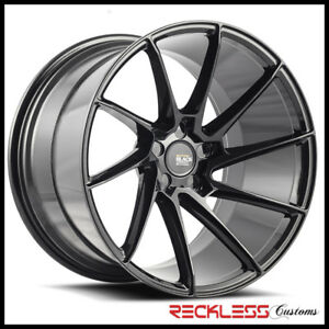 Savini 20 Bm15 Black Concave Directional Wheels Rims Fits Jaguar Xjl