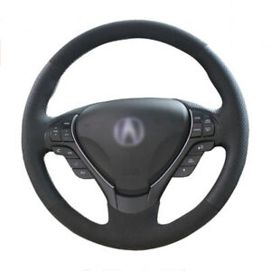 Top Leather Steering Wheel Hand stitch On Wrap Cover For Acura Tl Ilx Rdx Zdx