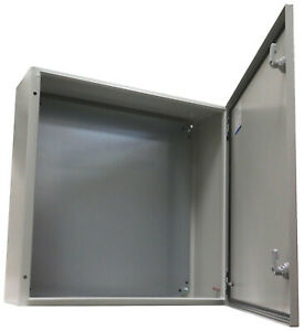 Yuco Yc 24x24x8 ip65 24 24 8 16 Gauge Ip 65 Metal Enclosure With Back Plate