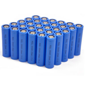 Lots 600x Pkcell 18650 Battery Rechargeable Li ion 2200mah 3 7v 800 Life Cycles