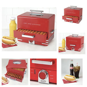 Electric Hot Dog Steamer Bun Warmer Cooking Home Birthday Party Steam 24 Hotdog