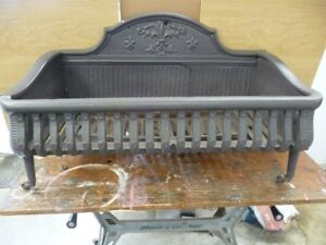 1880 S Cast Iron Fireplace Coal Wood Holder Solid Cast Iron
