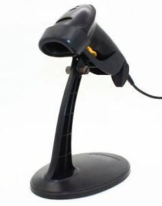 Black Usb Automatic Barcode Scanner And Reader With Hands Free Adjustable Stand