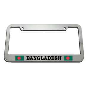 License Plate Frame Bangladesh Flag Country Zinc Weatherproof Car Accessories