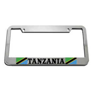 License Plate Frame Tanzania Flag Country Zinc Weatherproof Car Accessories