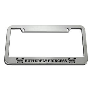 Butterfly Princess License Plate Frame Tag Holder