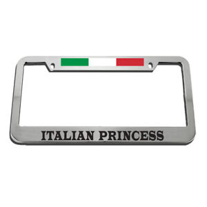 Italian Princess License Plate Frame Tag Holder