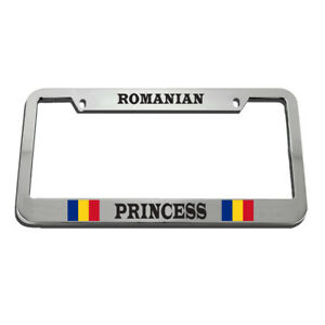 Romanian Princess License Plate Frame Tag Holder
