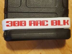 300 AAC BLACKOUT ID BAND IN WHITERED (4 PACK)