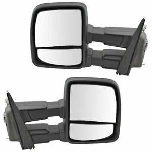 Tow Mirror Heat Signal Upgrade Power Fold Spotlight Marker Puddle Pair For Ford