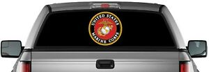 Perforated Marine Corps United States Usa Truck Back Window Graphic Decal Vinyl