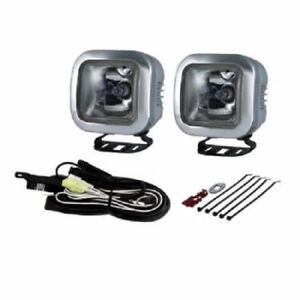 Piaa 410 Intense White 60w Square Driving Light Kit Sae Compliant