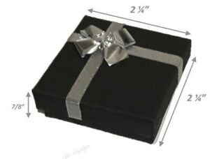 Lot Of 36 Boxes Black Earring Boxes Bow Tie Gift Box Jewelry Box Wholesale Boxes