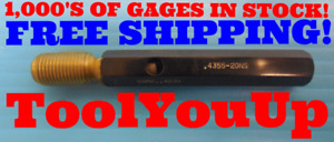 4355 20 Ns Thread Plug Gage Go Only P d 4030 Inspection Tooling Quality