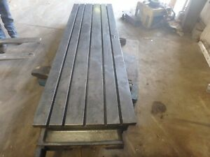 109 X 30 x 8 5 Steel Welding T slot Table Cast Iron Layout Plate Fixture