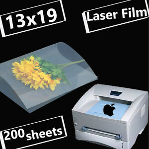 13 X 19 200 Sheets transparency Laser Printer Film Paper Silk Screen Printing