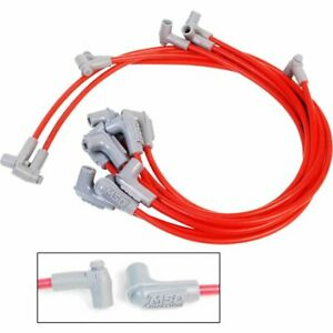 Msd Spark Plug Wires Spiral Core 8 5mm Red 90 Deg Boots Chevy Gmc Small Block V8