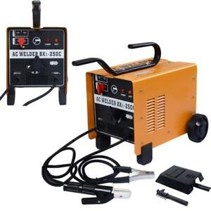 New 250 Amp Welder Flux Core Wire Automatic Feed Ac Welding Machine Set 110 220v