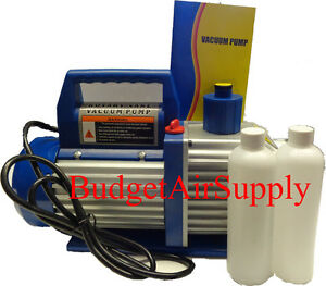 12 Cfm 1hp Two Stage Rotary Vane 110v Vacuum Pump Hvac