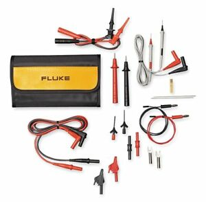 Fluke Test Lead Kit For Use With Multimeters And Clamp On Ammeters Tlk287