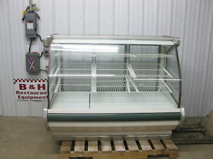 62 1 2 Curved Glass Full Service Dry Bakery Donut Display Show Case 5 2