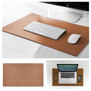 Leather Desk Mouse Pad Leaning Protective Blotter Mat Keyboard Smooth Design New