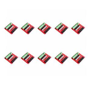 10pcs Red Switch Module Board Mosfet 4route Button Relay Control For Arduino