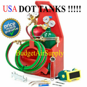 Hvac Portable Tote Welding Torch Kit Oxy Acetylene victor Type Dot Tanks Usa