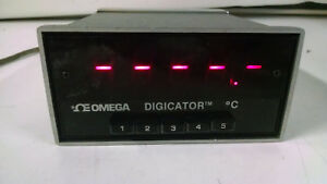 Omega Digicator 412b r f Temperature Display Meter Thermocouple As Is Powers On
