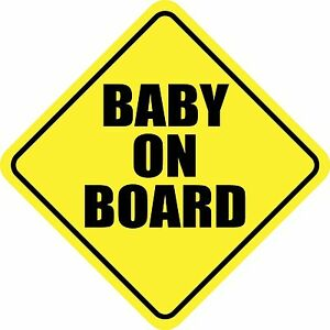 Baby On Board Child Sticker Decal Reflective Sticker Or Magnet Car Sign Made Usa
