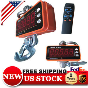 1000kg 1ton 2000 Lbs Digital Crane Scale Heavy Duty Alu Industrial Hanging Scale