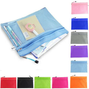 9pcs Zipper Closure Document Folder File Bag Organizer Office Document Bags