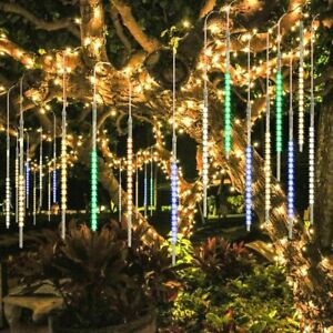 Bluefire Upgraded 50cm 10 Tubes 540 Led Meteor Shower Rain Lights Drop icicle
