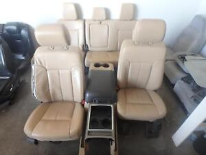 2011 2016 Ford F250 F350 Superduty Front Rear Seat Set Tan Leather Heated Cool