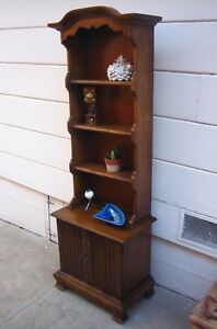 Vintage Three Shelf Bookcase With Bottom Cabinet Kids Furniture Store Display
